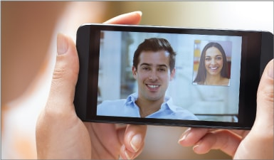 Use GLTalk to have a live video chat with friends and family anywhere across the world.